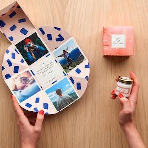 petit cube cadeau surprise personnalisé