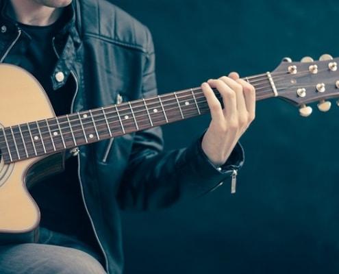 fan de guitare