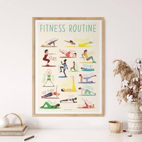 cadeau affiche fitness