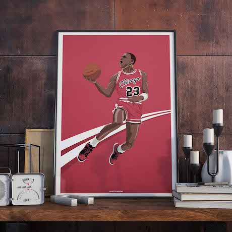affiche basket michael jordan