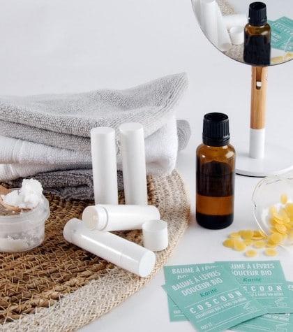 kit de fabrication baumes à lèvres bio