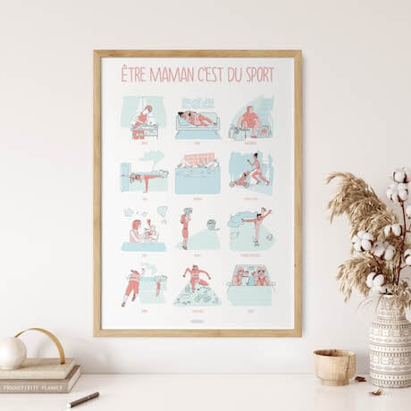 cadeau affiche maman sport