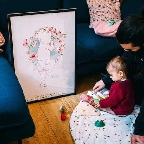 affiche naissance d'une fille