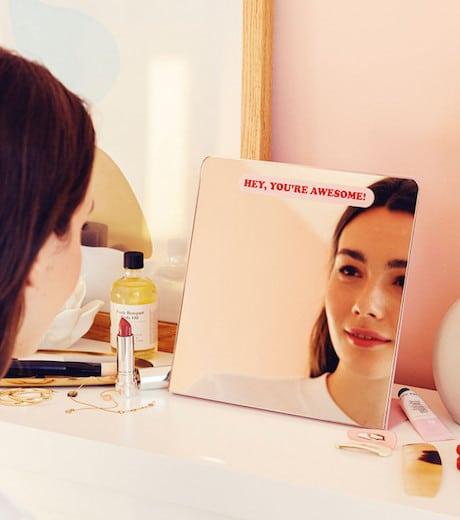 cadeau miroir selflove parlant